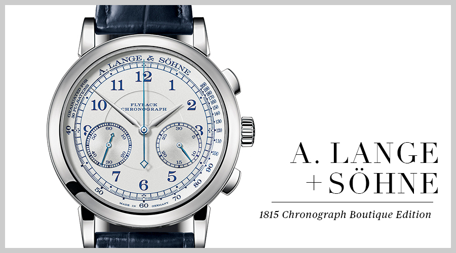 A Lange Sohne 1815 Chronograph Boutique Edition
