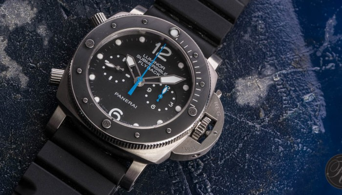 Hands-On With The Panerai PAM 615 Luminor Submersible Flyback Titanio