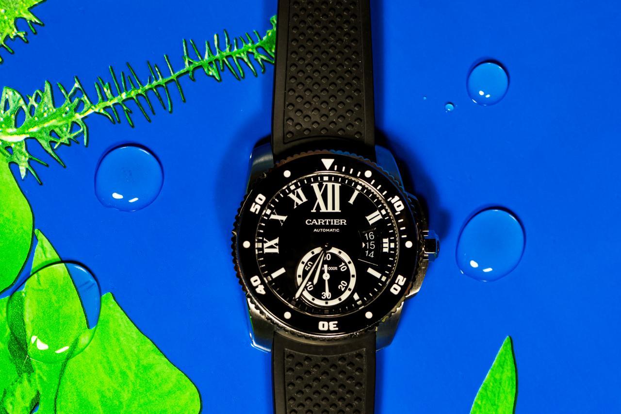 Calibre de Cartier Dive watch W7100056 - for sale - Govberg via Perpetuelle