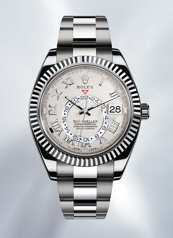 Rolex Sky-Dweller White Gold - front