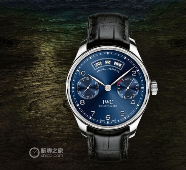 Tasting IWC replica Portuguese Series calendar steel replica watches