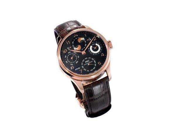 Crimson patent leather IWC Replica Watches