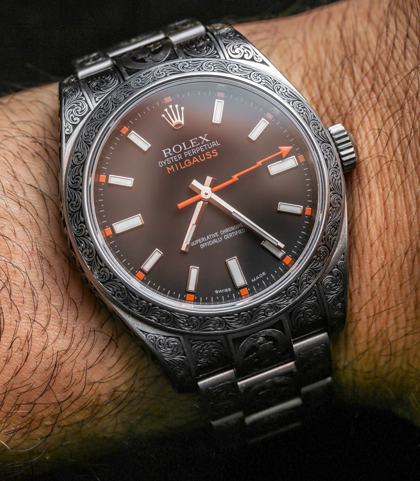 Rolex Milgauss Engraved By MadeWorn Watch Review