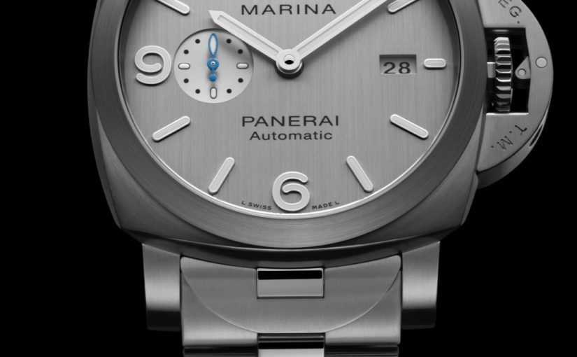 Panerai Luminor Marina Replica Watches with silver dial